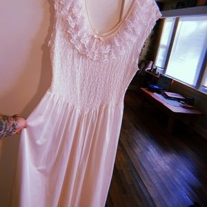 Vintage sheer lace nightgown